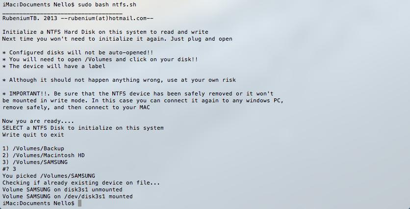 OSX con HD in NTFS